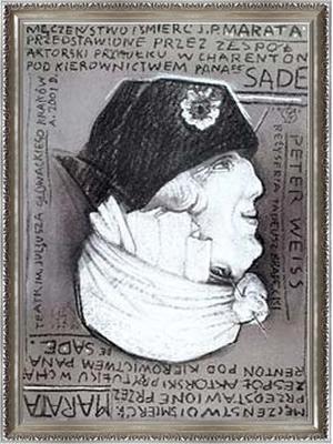 マルキ・ド・サドの演出のもとにシャラントン精神病院患者たちによって演じられたジャン=ポール・マラーの迫害と暗殺