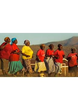 南アフリカのサッカーおばあちゃん